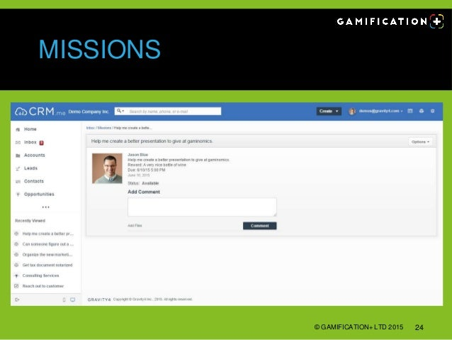 MISSIONS © GAMIFICATION+ LTD 2015 24