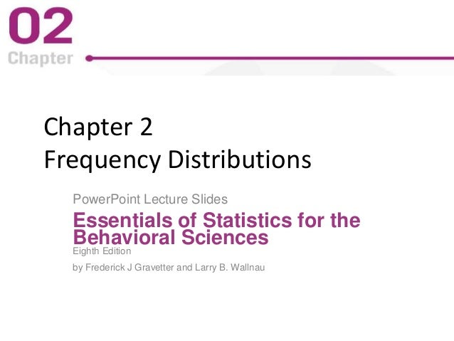 Chapter 2 Frequency Distributions PowerPoint Lecture Slides Essentials of Statistics for the Behavioral Sciences Eighth Ed...