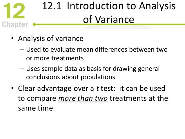 how to make a anova analysis