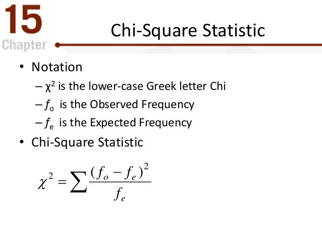 how to use chi square