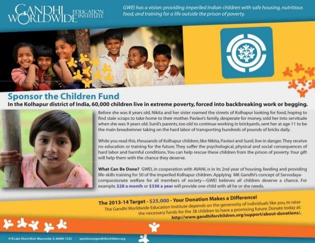 Gandhi  Sponsor the Children Fund - Kolhapur