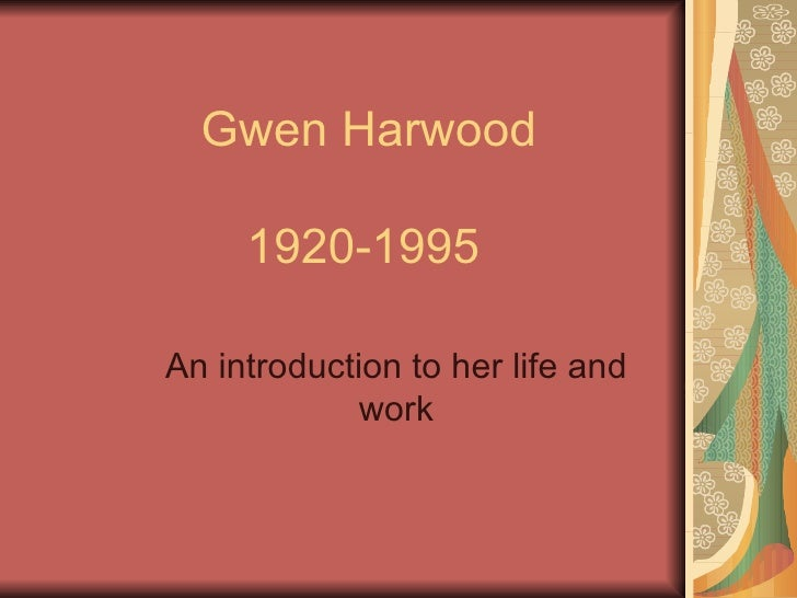 gwen harwood ss final Don't stop talking 2 friday, march 9, 2018 hello from another's childhood, by gwen harwood  the story of the ss derna and its passengers, 2001.