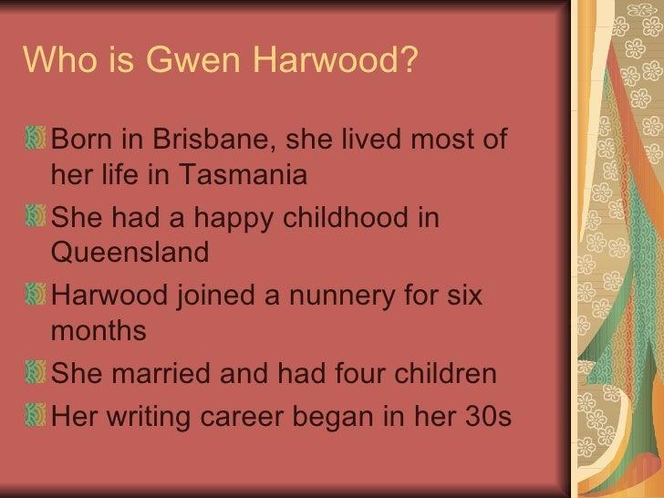 Gwen Harwood Critical Study Paper