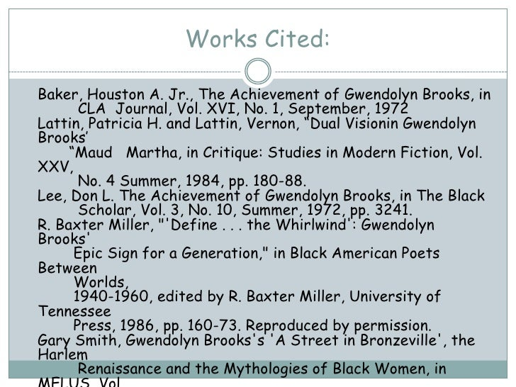 the mother gwendolyn brooks analysis