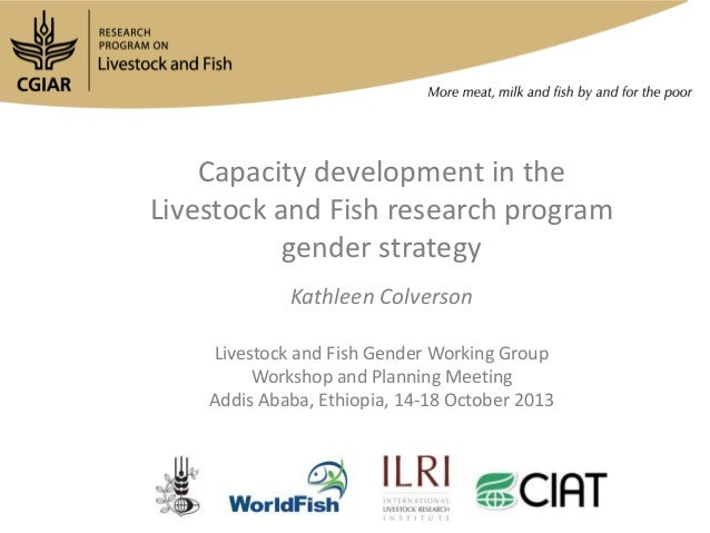 Capacity development in the Livestock and Fish research program gender strategy Kathleen Colverson Livestock and Fish Gend...