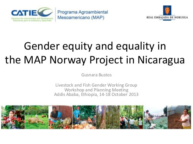 Gender equity and equality in the MAP Norway Project in Nicaragua Gusnara Bustos Livestock and Fish Gender Working Group W...