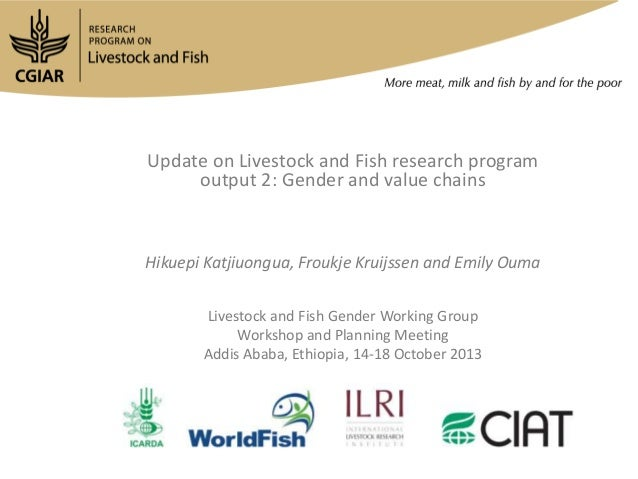 Update on Livestock and Fish research program output 2: Gender and value chains  Hikuepi Katjiuongua, Froukje Kruijssen an...
