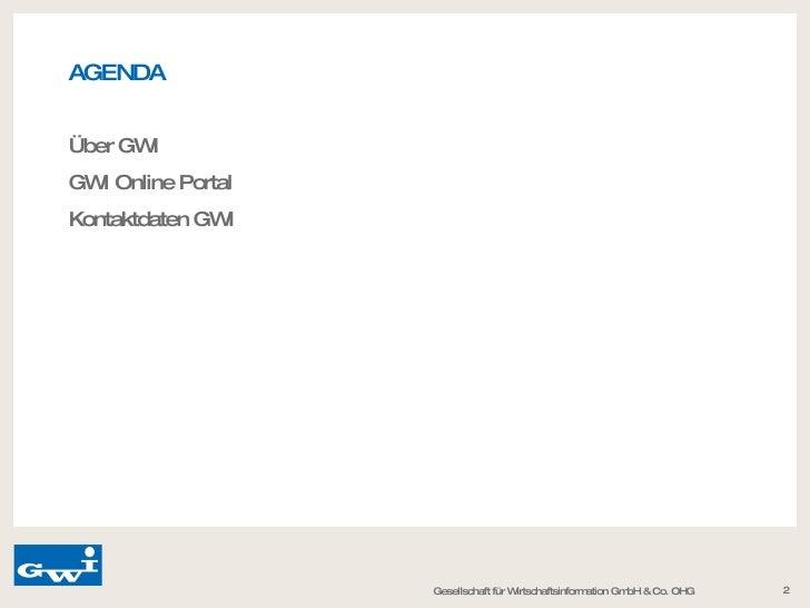 Gwi Gesellschaft für Wirtschaftsinformation GmbH & Co. OHG Slide 2