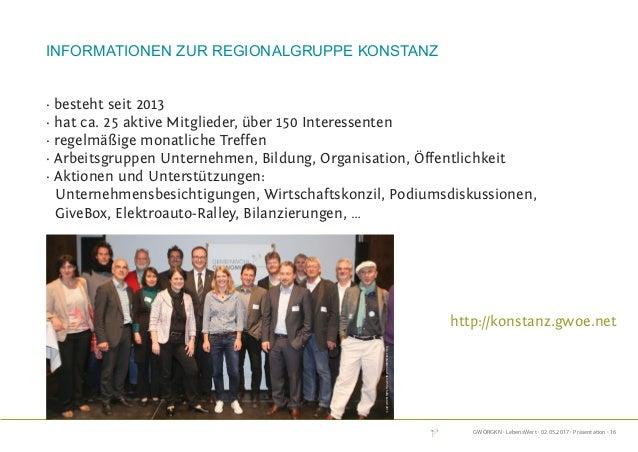 GWÖRGKN · LebensWert · 02.05.2017 · Präsentation · 16 Informationen zur Regionalgruppe Konstanz · besteht seit 2013 · hat ...