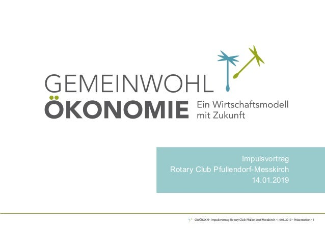 GWÖRGKN · Impulsvortrag Rotary Club Pfullendorf-Messkirch · 14.01.2019 · Präsentation · 1 DeR weG ZUR Gemeinwohl-BilAnZ Im...