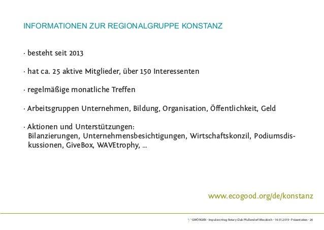 GWÖRGKN · Impulsvortrag Rotary Club Pfullendorf-Messkirch · 14.01.2019 · Präsentation · 26 Informationen zur Regionalgrupp...
