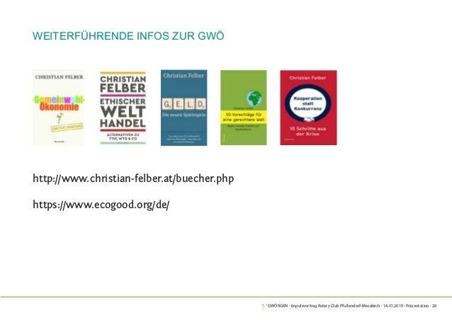 GWÖRGKN · Impulsvortrag Rotary Club Pfullendorf-Messkirch · 14.01.2019 · Präsentation · 28 weiterführende Infos zur GWÖ ht...
