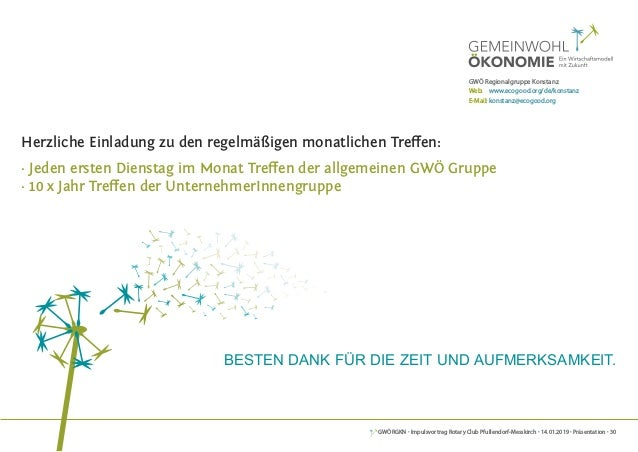 GWÖRGKN · Impulsvortrag Rotary Club Pfullendorf-Messkirch · 14.01.2019 · Präsentation · 30 Herzliche Einladung zu den rege...