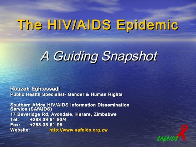 The HIV/AIDS Epidemic            A Guiding SnapshotRouzeh EghtessadiPublic Health Specialist- Gender & Human RightsSouther...