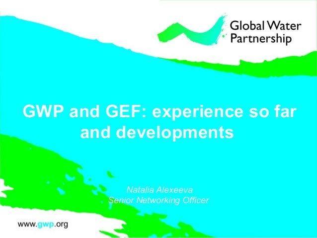GWP and GEF: experience so far and developments Natalia Alexeeva Senior Networking Officer