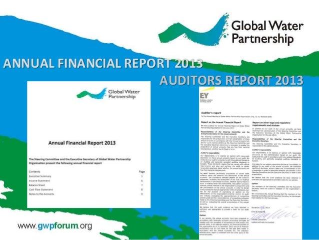 ANNUAL FINANCIAL REPORT 2013 AUDITORS REPORT 2013