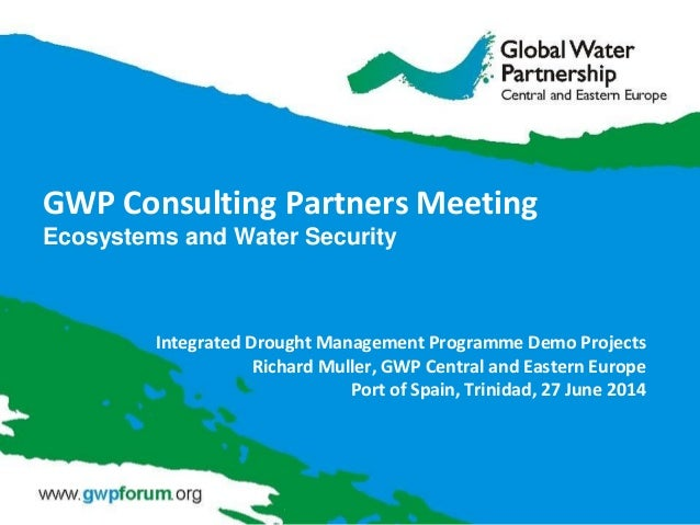 GWP Consulting Partners Meeting Ecosystems and Water Security Integrated Drought Management Programme Demo Projects Richar...