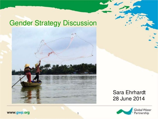 Gender Strategy Discussion 1 Sara Ehrhardt 28 June 2014