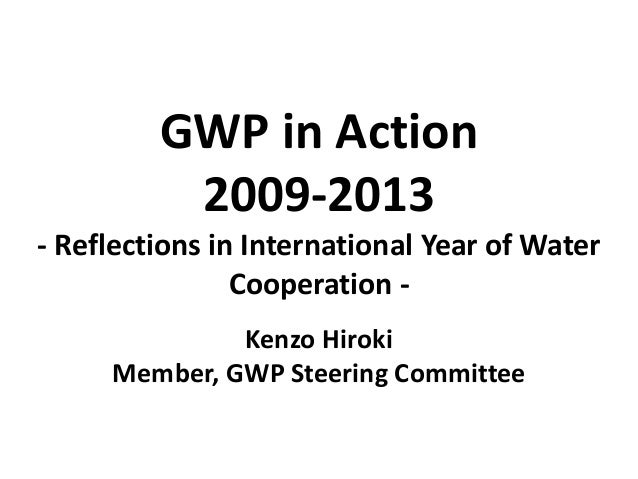 GWP in Action 2009-2013 - Reflections in International Year of Water Cooperation - Kenzo Hiroki Member, GWP Steering Commi...