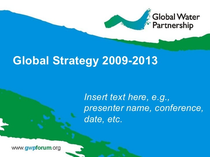 Global Strategy 2009-2013 Insert text here, e.g., presenter name, conference, date, etc.