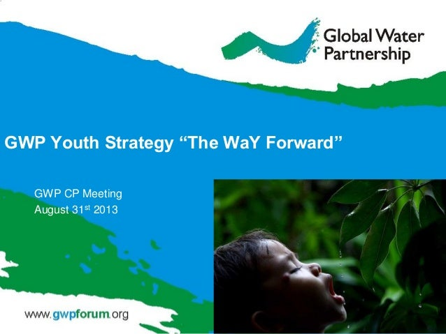 """GWP Youth Strategy """"The WaY Forward"""" GWP CP Meeting August 31st 2013"""