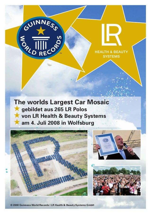 The worlds Largest Car Mosaic gebildet aus 265 LR Polos von LR Health & Beauty Systems am 4. Juli 2008 in Wolfsburg © 2008...