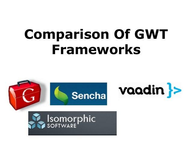 Comparison Of GWT Frameworks
