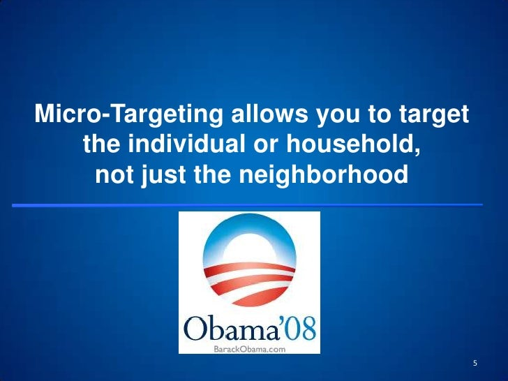 Micro-Targeting allows you to target the individual or household, not just the neighborhood<br />5<br />