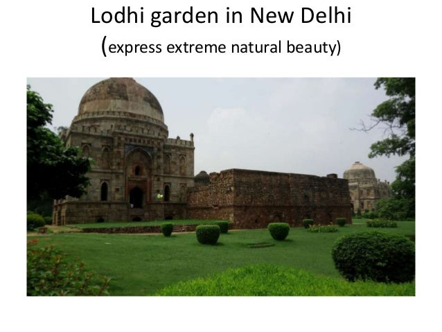 Lodhi garden in New Delhi (express extreme natural beauty)
