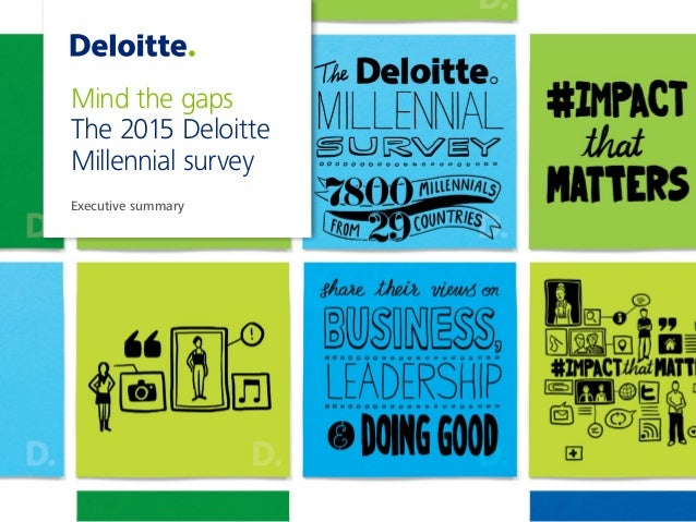 Mind the gaps The 2015 Deloitte Millennial survey Executive summary