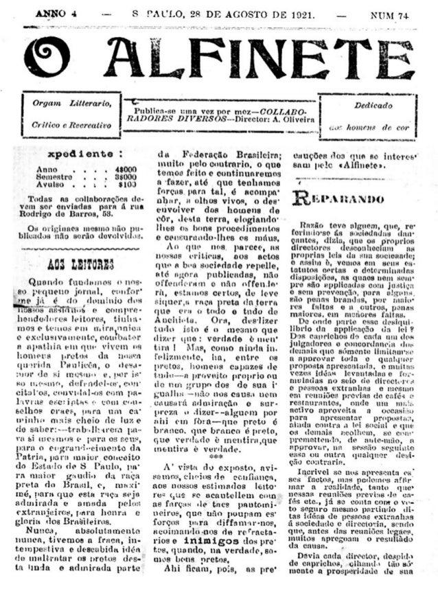 Jornal O Alfinete: São Paulo, 28 de Agosto de 1921