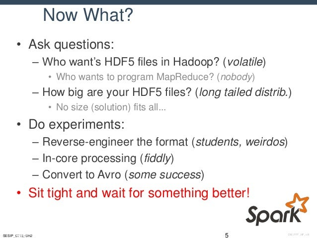 Putting some Spark into HDF5