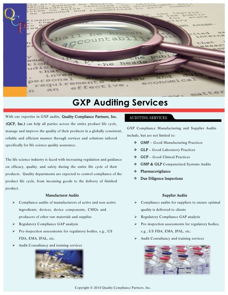 Gxp Auditing Services 2010