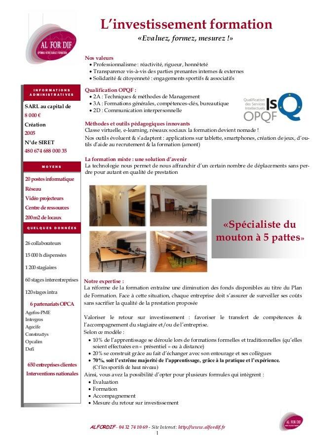 ALFORDIF - Domaine de Tartay—350 Chemin de Tartay—84140 Montfavet Tel : 04 32 74 10 69 - Mobile : 06 18 86 17 27 - Site In...
