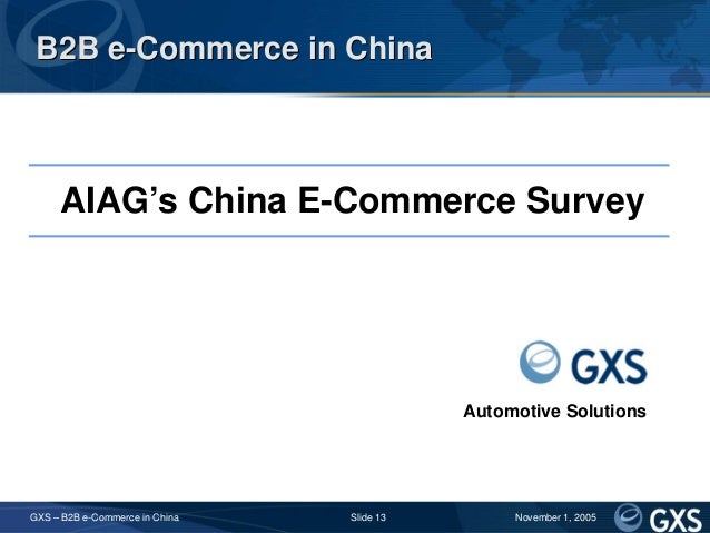 Business-to-Business Market Research in China