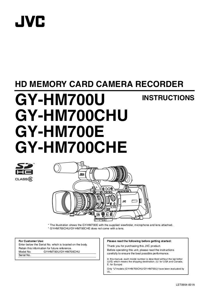 HD MEMORY CARD CAMERA RECORDERGY-HM700U                                                                                   ...
