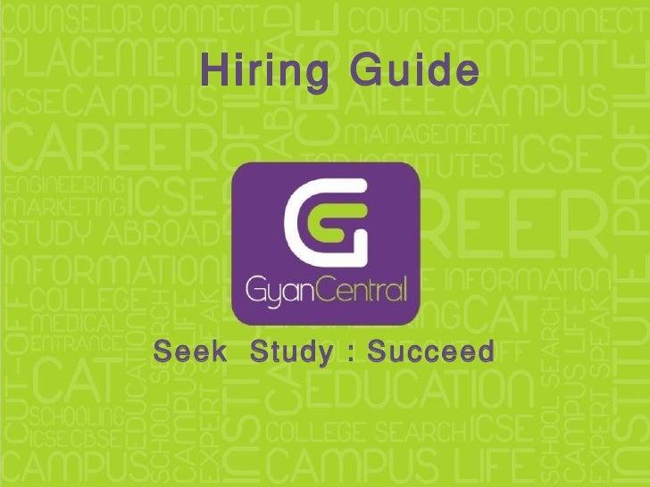 Seek  Study : Succeed Hiring Guide