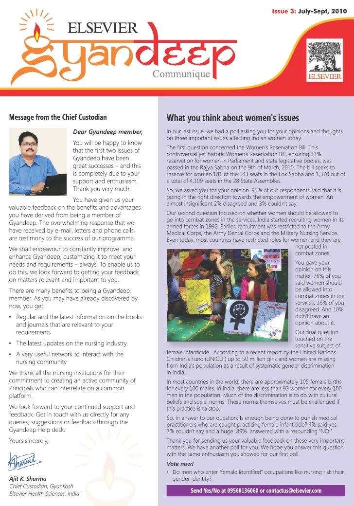 Gyandeep newsletter (July - Sept Issue)