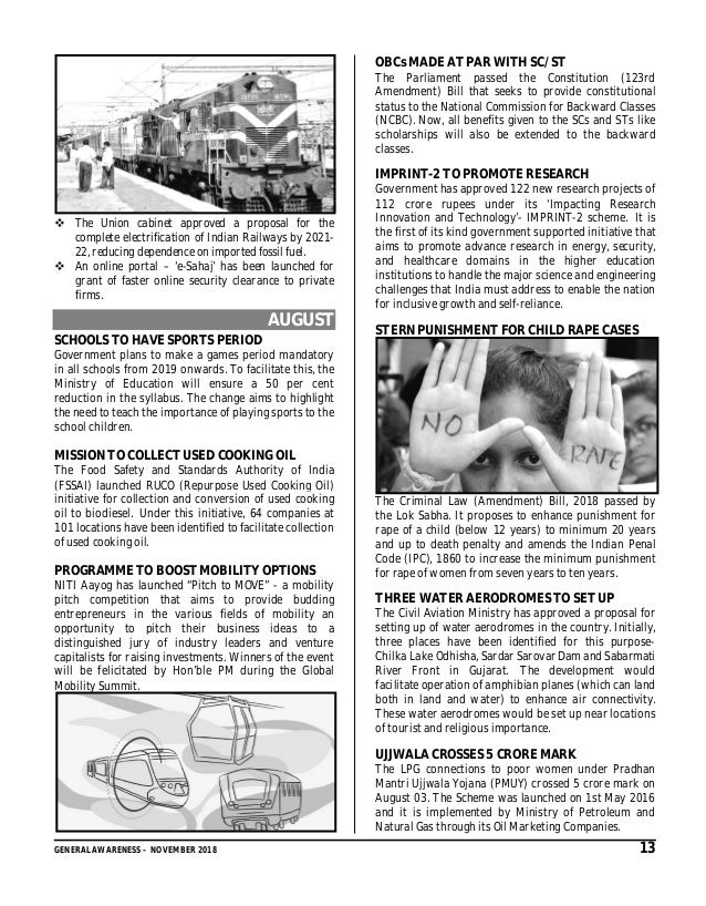 GYANM_GENERAL_AWARENESS_MONTHLY_ISSUE_NOVEMBER_2018