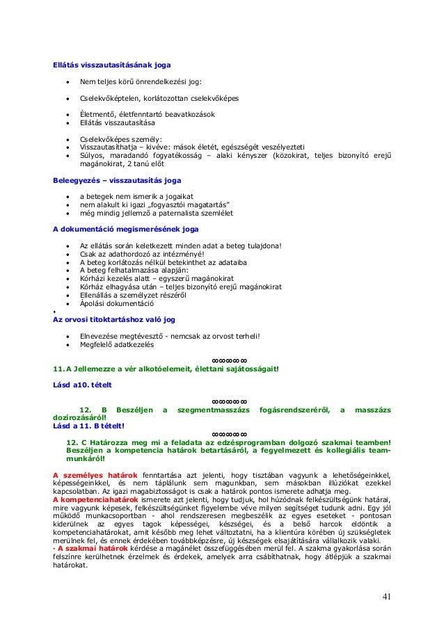 Gyógy, és sportmasszőr komplex szakmai feladatok (54 726 01 )kidolgozott tételsor