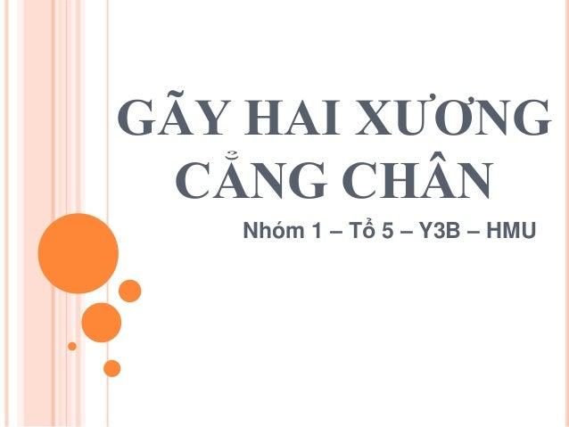 GÃY HAI XƯƠNG CẲNG CHÂN Nhóm 1 – Tổ 5 – Y3B – HMU