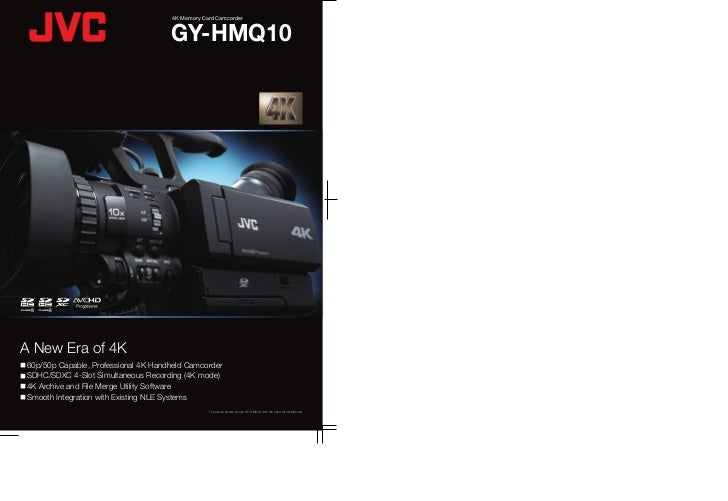4K Memory Card CamcorderSpecificationsGY-HMQ10                                                                            ...