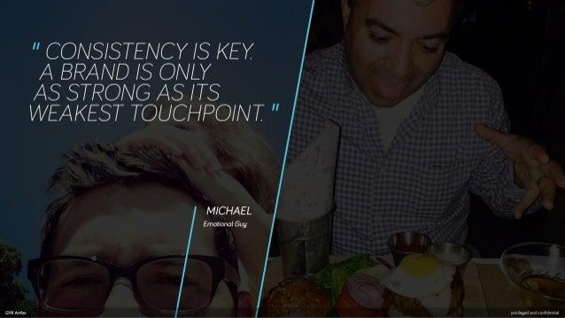 """ CONS/ STENCY / S KEY  A BRAND / S ONLY  AS STRONG AS / TS WEAKEST TOUCHRO/ NT ""  MICHAEL  Emotional Guy  ddddddddddddddd..."