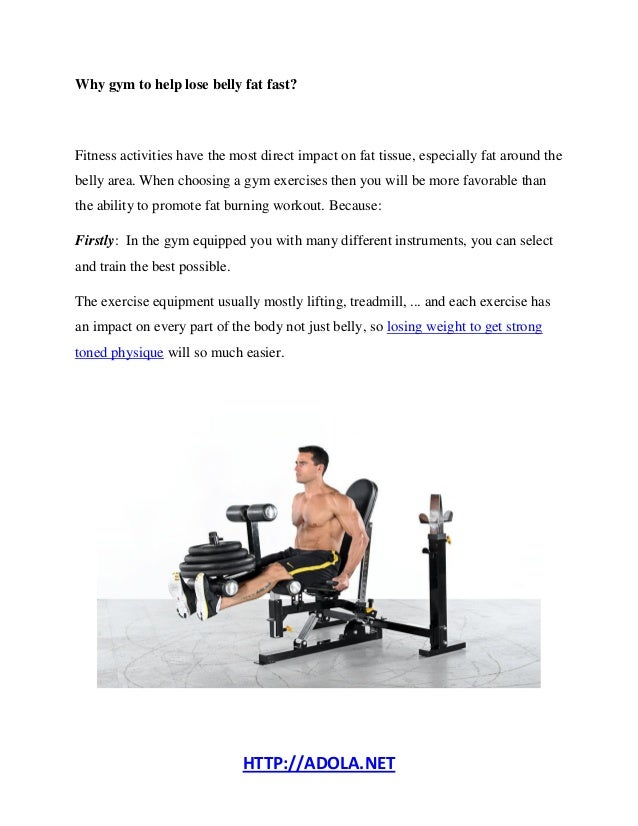 Gym Exercises to Lose Belly Fat for Men