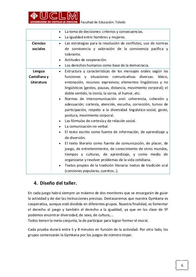 Facultad de Educación. Toledo 6  La toma de decisiones: criterios y consecuencias.  La igualdad entre hombres y mujeres....
