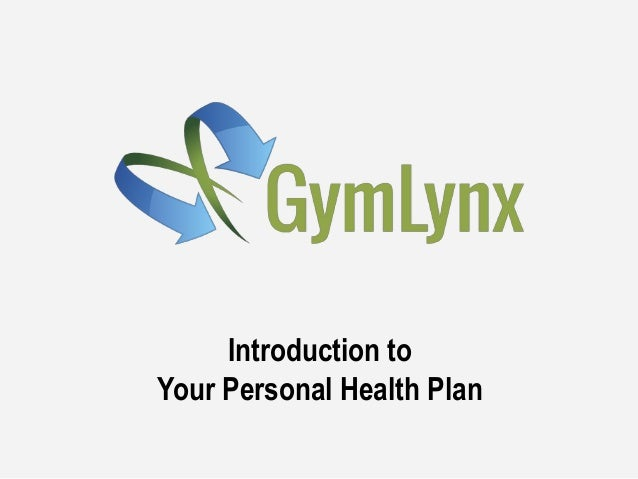 Introduction to Your Personal Health Plan