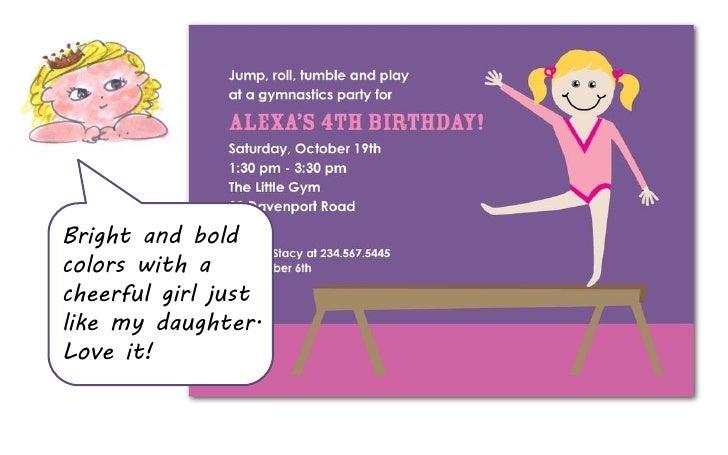 Gymnastics birthday party invitations 7 stopboris Image collections