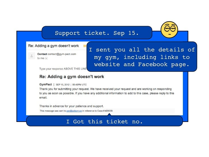 Support ticket. Sep 15.                            l         I sent you all the details of          my gym, including link...