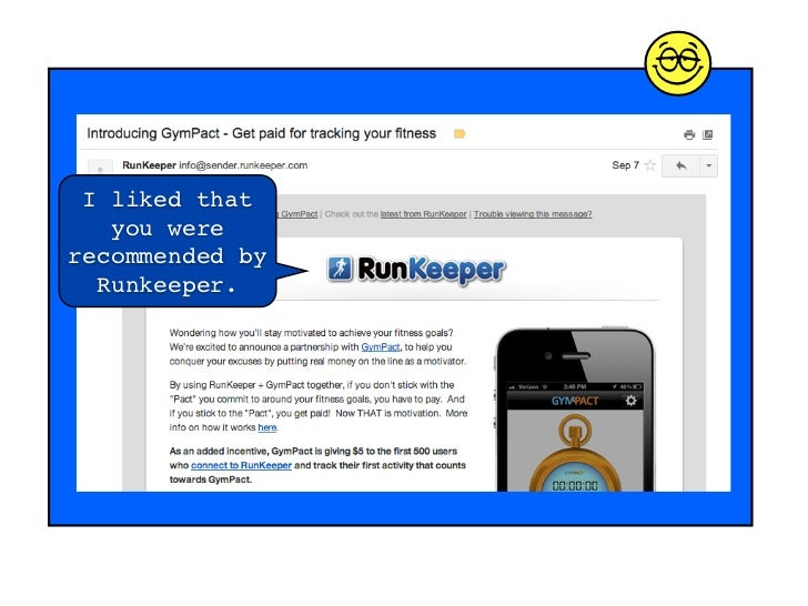 d I liked that   you wererecommended by  Runkeeper.