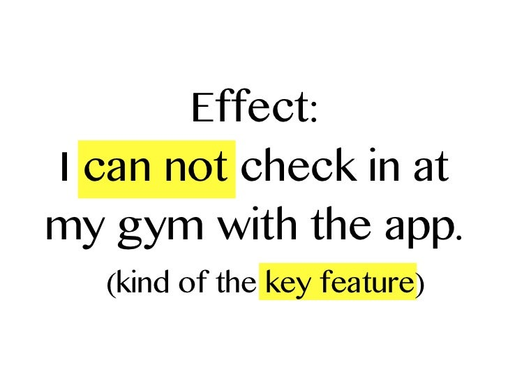 Effect:I can not check in atmy gym with the app.   (kind of the key feature)